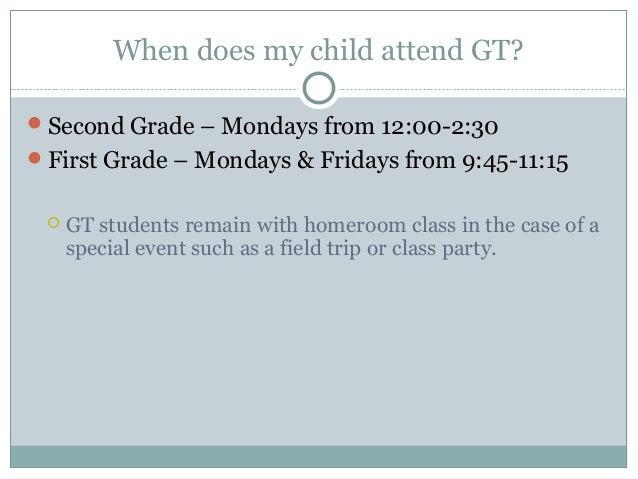 1st & 2nd Grade GT Parent Meeting 2013 Slide 3