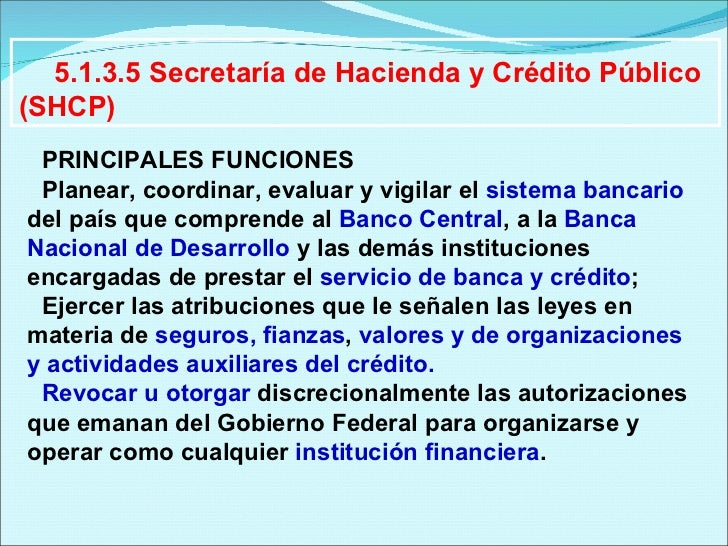 Sistema financiero mexicano for Oficina virtual ministerio de hacienda