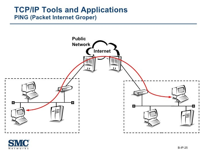 TCP/IP Tools and Applications PING (Packet Internet Groper) Internet Public  Network