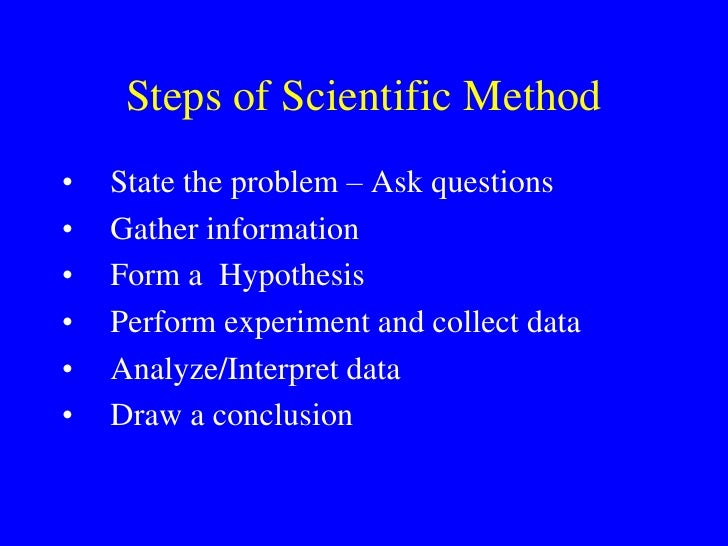 scientific method scenario The scientific method the scientific method is an organized way that helps scientists (or anyone) answer a question or begin to solve a problem there are usually six parts to it.