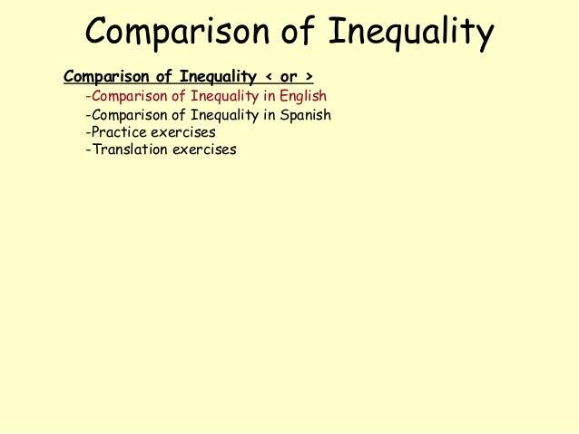 Comparison of InequalityComparison of Inequality < or >  -Comparison of Inequality in English  -Comparison of Inequality i...