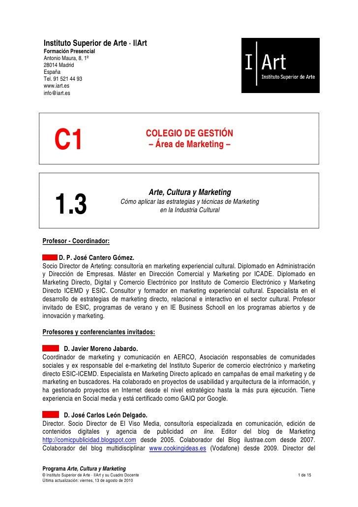 Arte, cultura y marketing: cómo aplicar el marketing directo, relacional e interactivo en la industria cultural