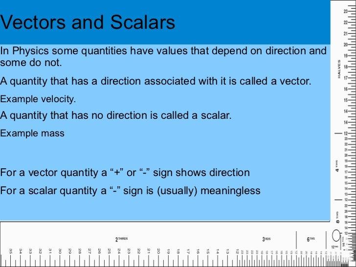 physics 1.3 scalars and vectors  slideshare