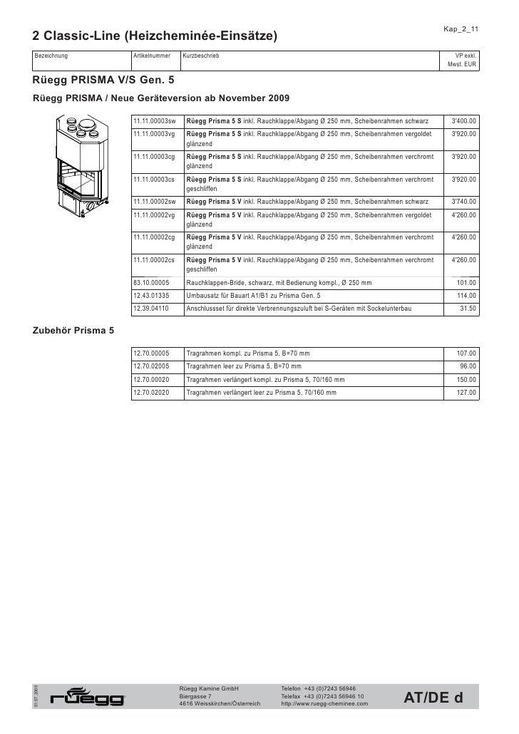 Kap_2_12 2 Classic-Line (Heizcheminée-Einsätze)  Bezeichnung           Artikelnummer    Kurzbeschrieb                     ...