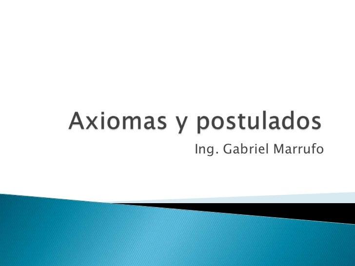 Ing. Gabriel Marrufo