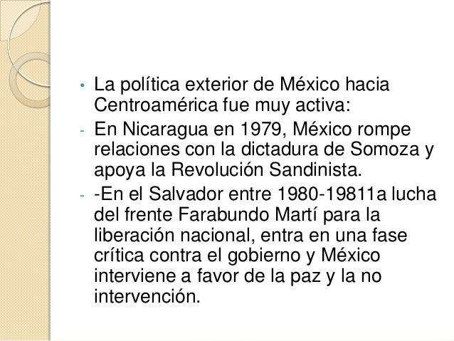 1 3 pol tica exterior de los gobiernos mexicanos for La politica exterior de espana