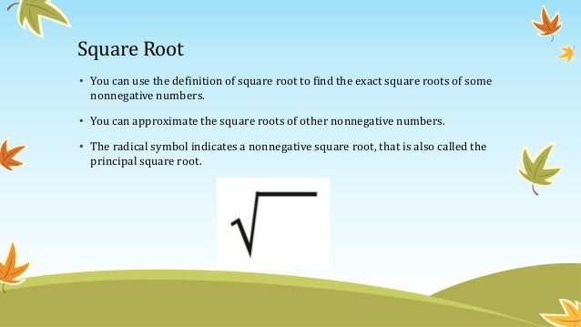 13 Real Numbers And The Number Line