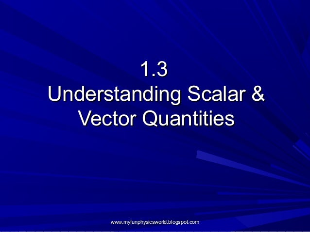 scalars and vectors nasa - photo #43