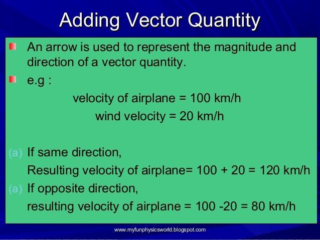 1.3 scalar & vector quantities