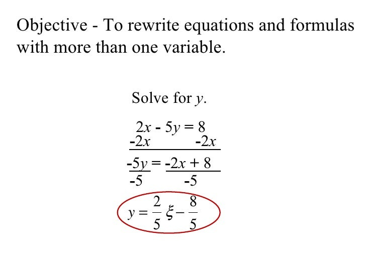 rewriting equations
