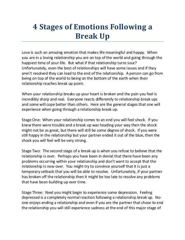 4 Stages Of Emotions Following A Break Uplove Is Such An Amazing Emotion That Makes Life