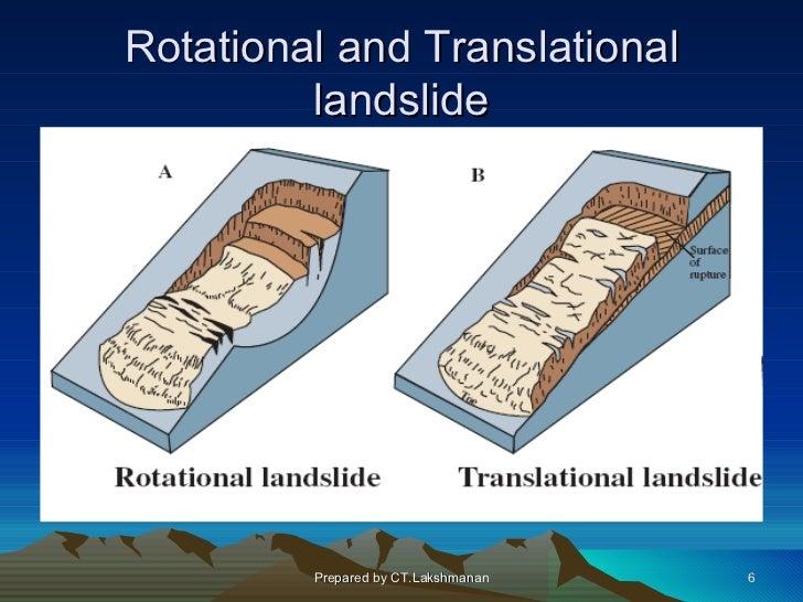 Rotational and Translational         landslide         Prepared by CT.Lakshmanan   6