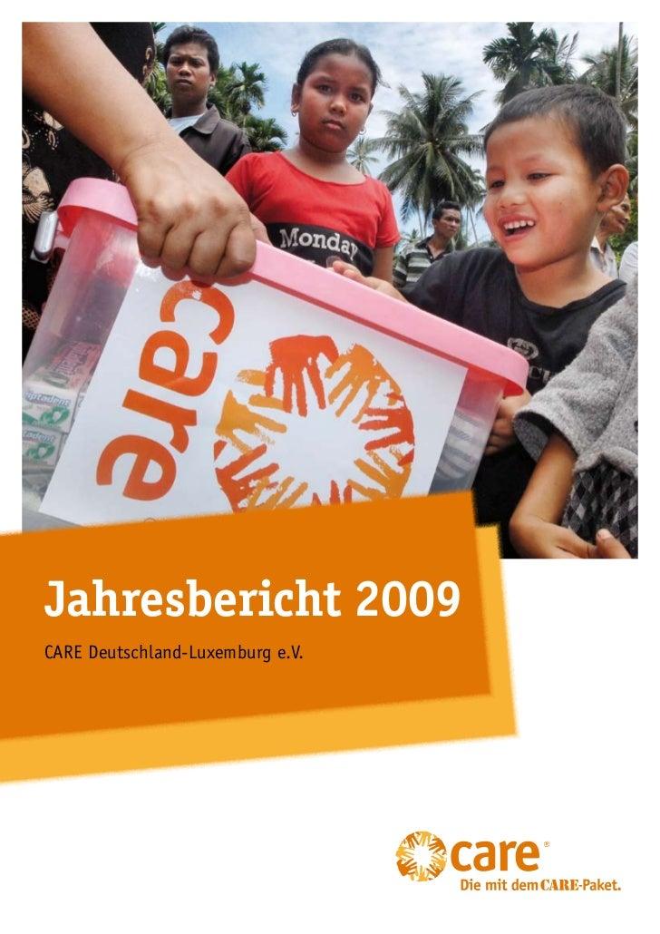 Jahresbericht 2009CARE Deutschland-Luxemburg e.V.