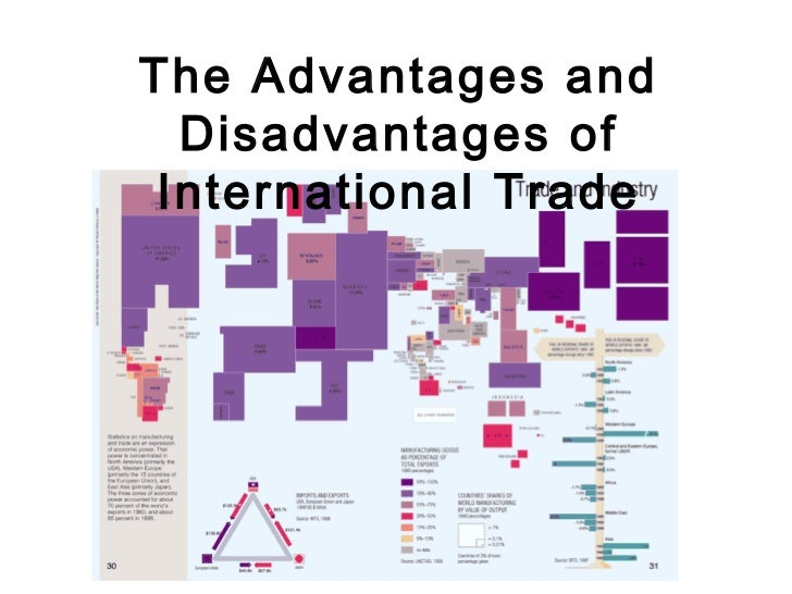 advantages and disadvantages of international trade in china Advantages and disadvantages of international trade you are here: home / advantages and disadvantages of international trade when companies meet carrying capacity in a domestic market, many look for opportunities in a foreign region.