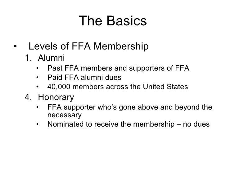 1.01 FFA Organization (Animal Science I)