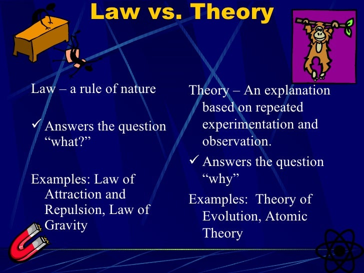 Scientific law and theory: text, images, music, video | glogster.