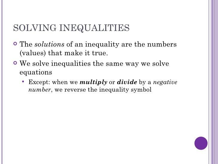15 Solving Inequalities