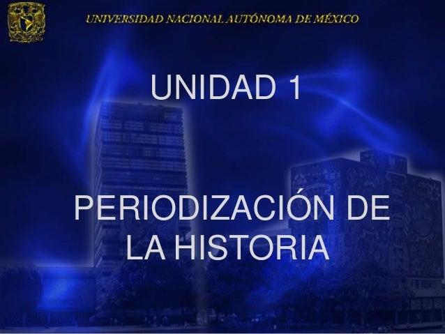 UNIDAD 1PERIODIZACIÓN DE  LA HISTORIA