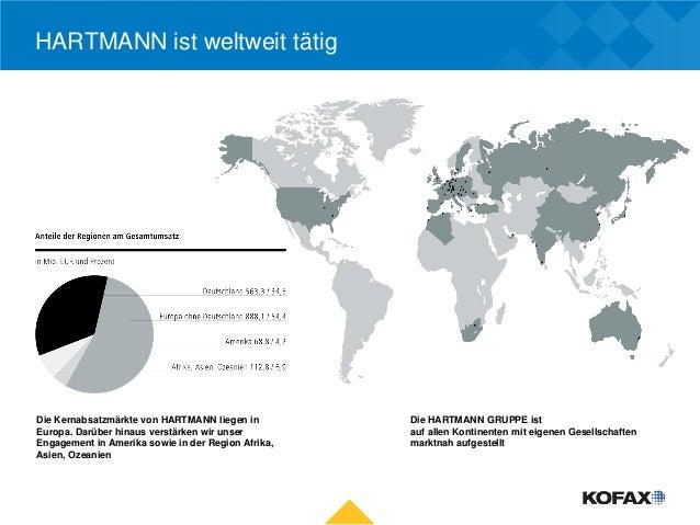 HARTMANN ist weltweit tätigDie Kernabsatzmärkte von HARTMANN liegen in         Die HARTMANN GRUPPE istEuropa. Darüber hina...