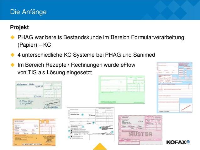 Die AnfängeProjekt PHAG war bereits Bestandskunde im Bereich Formularverarbeitung  (Papier) – KC 4 unterschiedliche KC S...