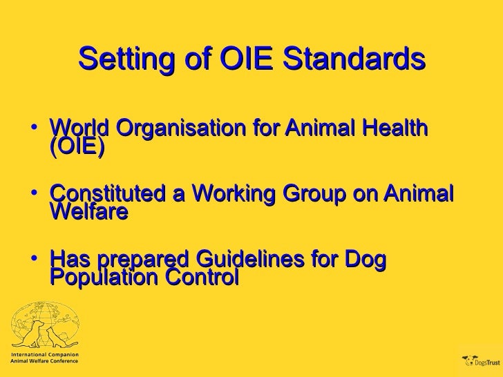 animal population control 313 oie terrestrial animal health standards commission / september 2009 annex xvii (contd) chapter 77 guidelines on stray dog population control.