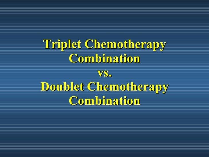 Image result for image of triplet chemotherapy regimen