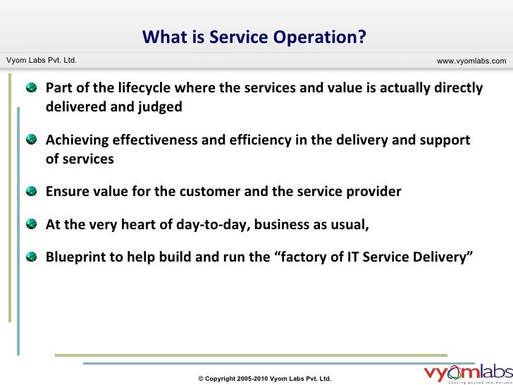 Importance Of Certification In Itil V3 Service Operations