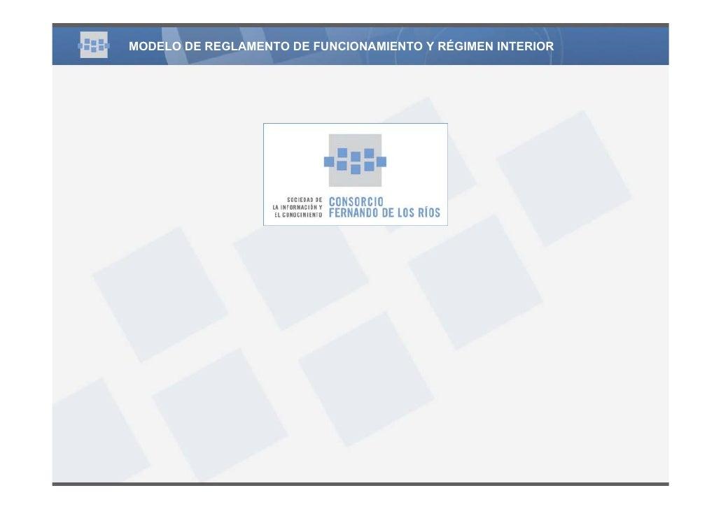 1 6 reglamento de funcionamiento y regimen interior - Regime 16 8 ...