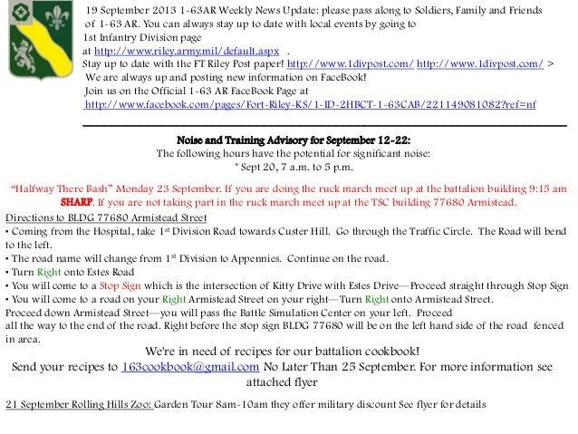1 63 Weekly News Update 19 September