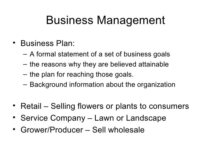 Business Management ... - 1 6 Landscape Business Plans