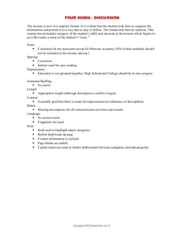 functional resume categories