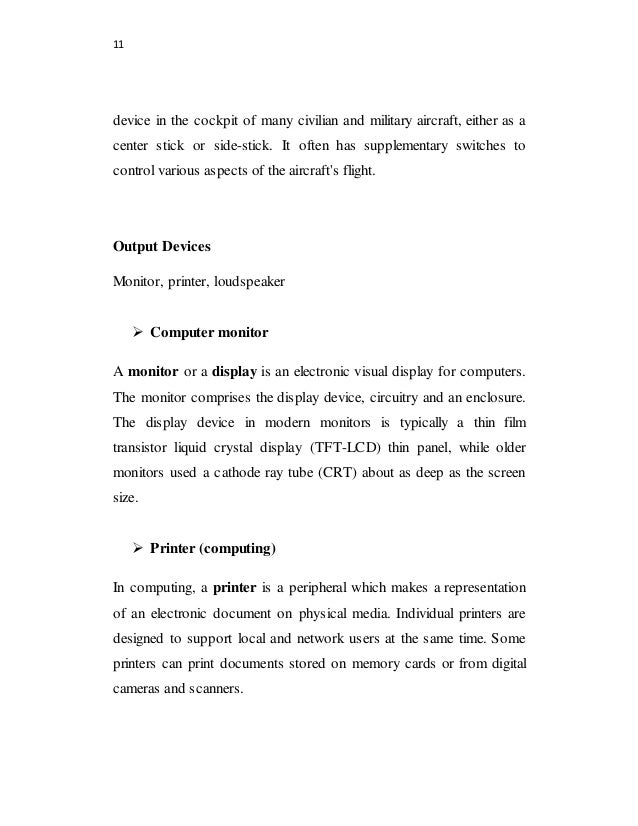 Minor Project Report on Computer and its Uses - Download for