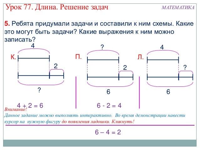 задач схемами класс решение 2