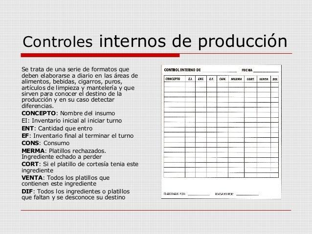 1 7 tipos de costos for Formatos y controles para restaurantes gratis