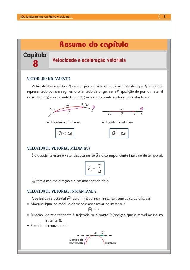 1  Os fundamentos da Física • Volume 1  Menu  Exercícios propostos  Testes propostos  Teste sua leitura  Resumo do capítul...