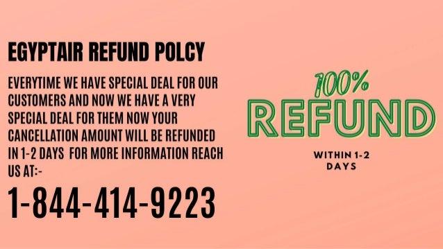 1 844-414-9223 |Egyptair refund policy |reimbursement Slide 2