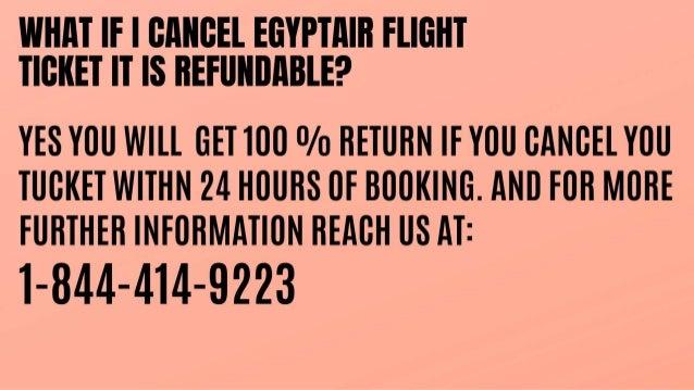 1 844-414-9223 |Egyptair refund policy |reimbursement Slide 3