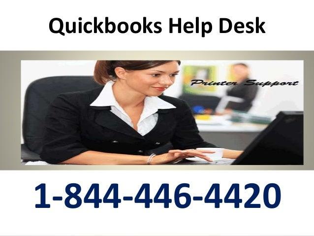 Quickbooks Help Desk 1-844-446-4420