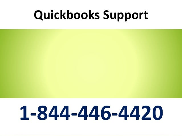 Quickbooks Support 1-844-446-4420