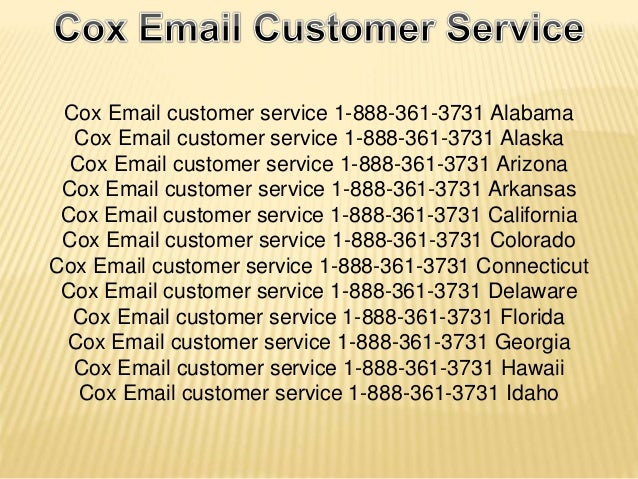 Cox email customer service 1 888 361 3731 california cox for Bhg customer service phone number
