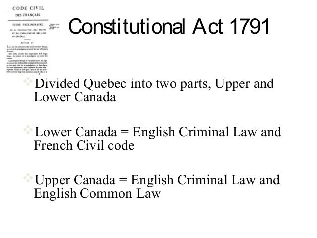 Constitutional Act 1791 – Group Project