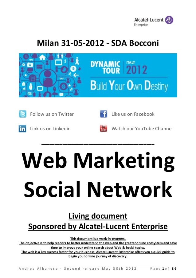 Milan 31-05-2012 - SDA Bocconi       Follow us on Twitter                                  Like us on Facebook       Link ...