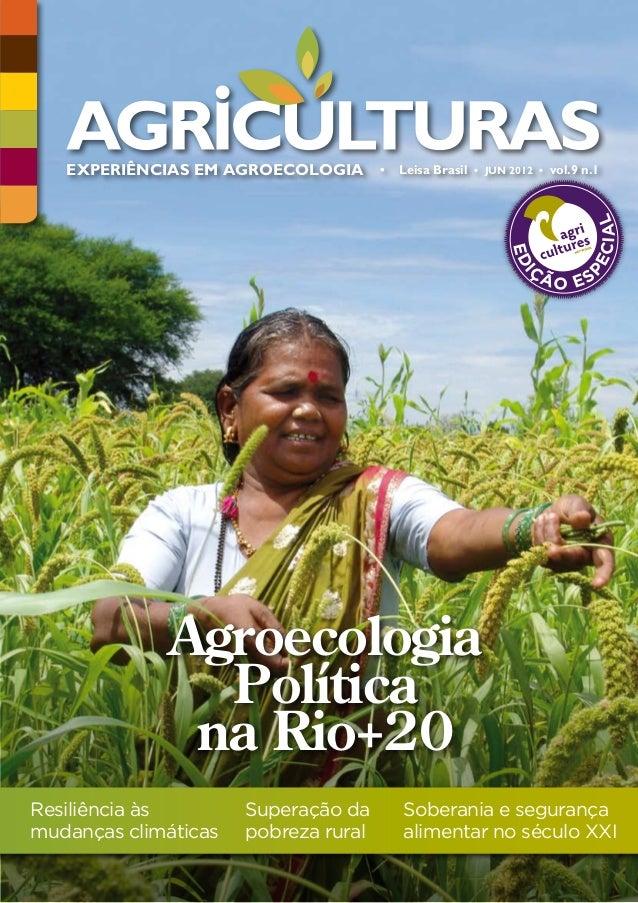 EXPERIÊNCIAS EM AGROECOLOGIA • • Leisa Brasil •   EXPERIÊNCIAS EM AGROECOLOGIA     Leisa Brasil    • JUN 2012 • vol.9 n.1 ...