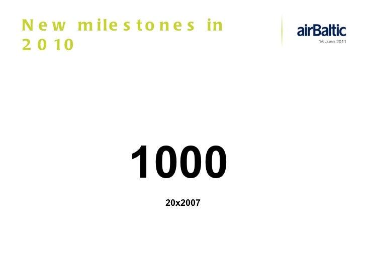 New milestones in 2010 1000 20x2007