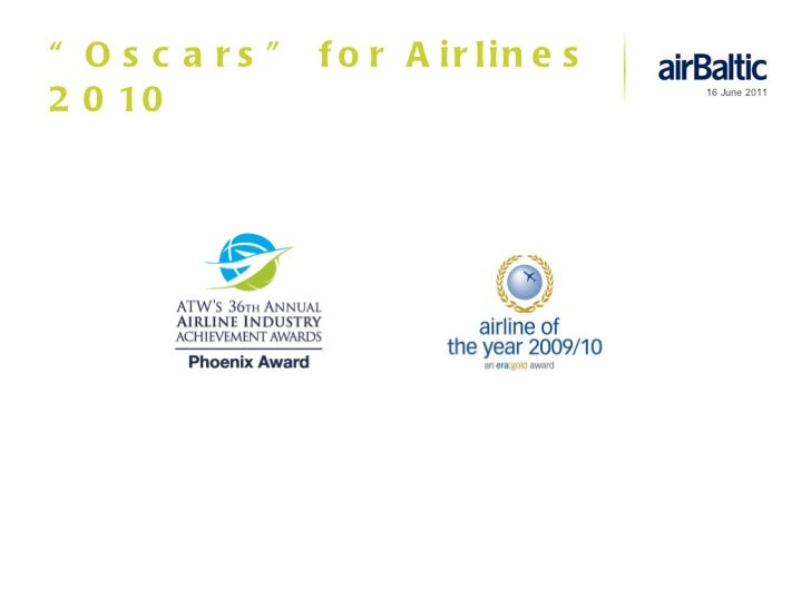 """"""" Oscars"""" for Airlines 2010"""