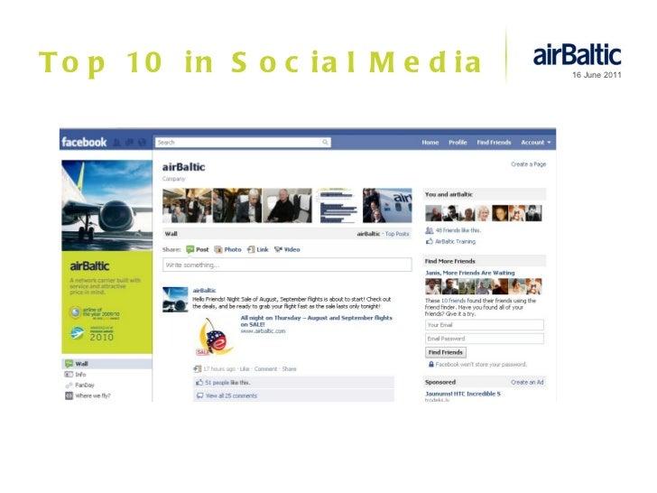 Top 10 in Social Media