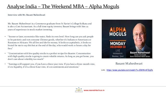 Alpha Moghuls - Weekend MBA in Investing - Analyse India Learning Series  Slide 3