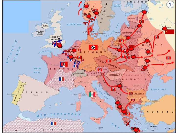 Wwii Animated Map Of Europe