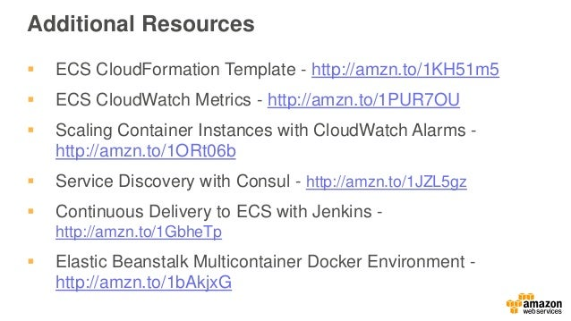 February 2016 webinar series ec2 container service deep dive for Aws ecs consul
