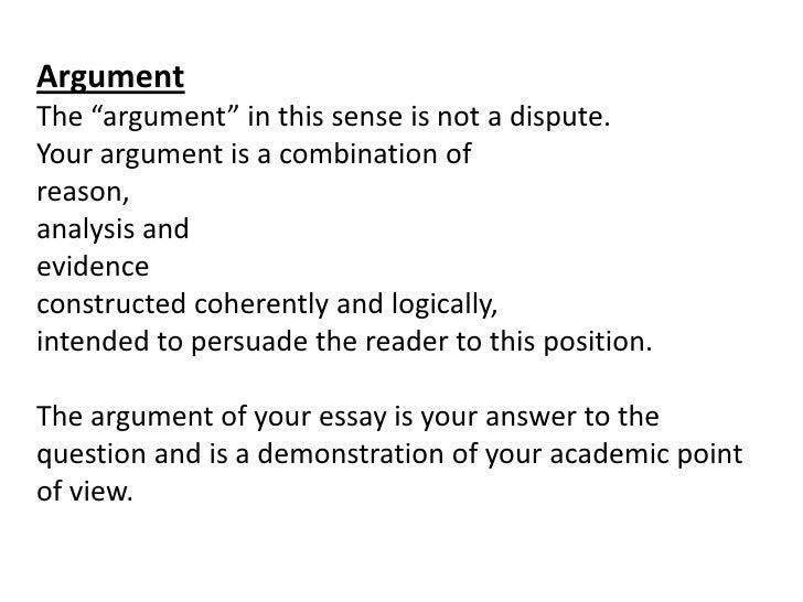 Analyzing an essay